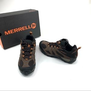 Merrell hiking shoes leather trail walking sneaker